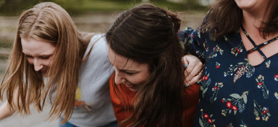 group of women hugging
