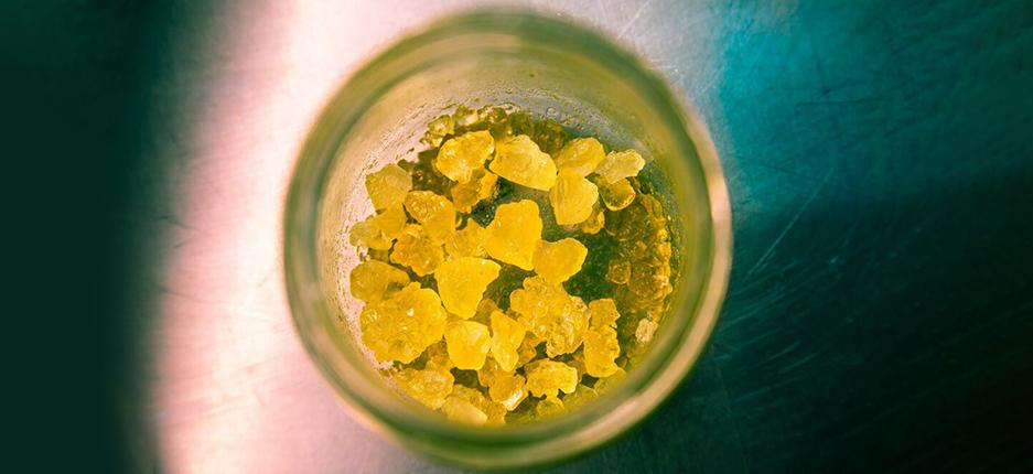 cannnabis wax in a jar