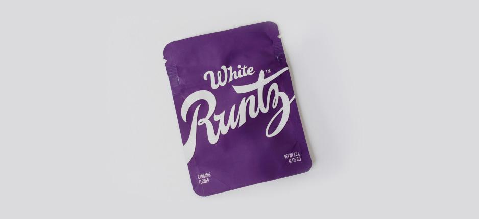 white and purple runtz packaging