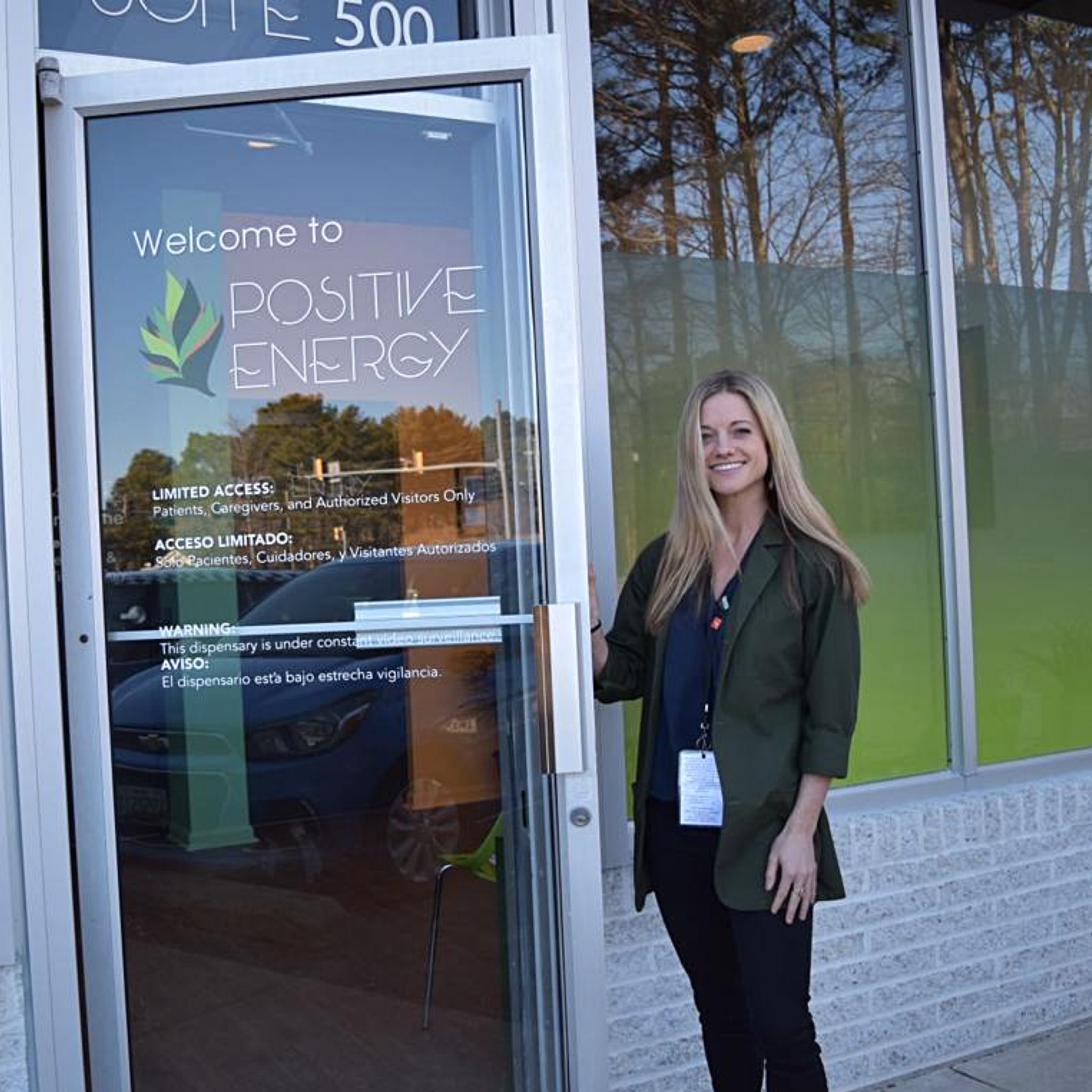 Lyndsey Odachowski standing in front of her store